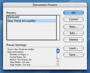 You can use Document Presets to set up templates with a predefined number of columns.